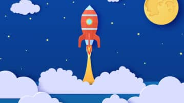 rocket launching art